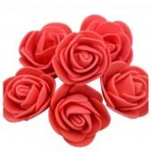 Красный цвет. Искусственные поролоновые головки роз. Цветок 3 см  10 шт  #1919