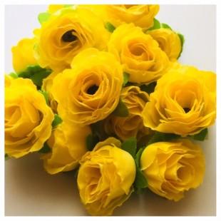 Шелковые головки цветов в стиле ретро. Цветок 4 см  10 шт  #1515