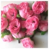 Розовый цвет.. Шелковые головки цветов в стиле ретро. Цветок 4 см  10 шт  #1515