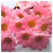 Розовый цвет. Шелковые головки цветов в стиле ретро. Цветок 4 см  10 шт  #3115