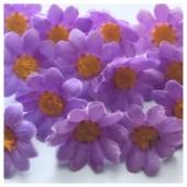 Сиреневый цвет. Шелковые головки цветов в стиле ретро. Цветок 4 см  10 шт  #3115
