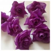 Фиолетовый цвет. Шелковые головки цветов в стиле ретро. Цветок 5 см  10 шт  #88
