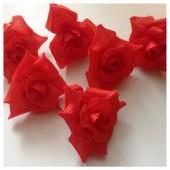 Красный цвет. Шелковые головки цветов в стиле ретро. Цветок 5 см  10 шт  #88