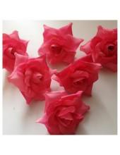 Розовый цвет. Шелковые головки цветов в стиле ретро. Цветок 5 см  10 шт  #88