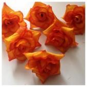 Оранжевый цвет. Шелковые головки цветов в стиле ретро. Цветок 5 см  10 шт  #88