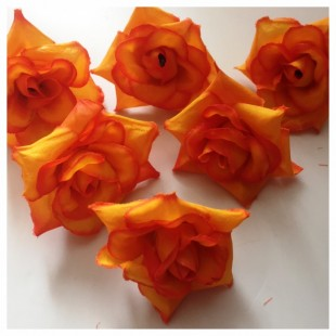 Шелковые головки цветов в стиле ретро. Цветок 5 см  10 шт  #88
