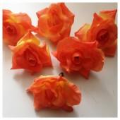 Бежевый цвет. Шелковые головки цветов в стиле ретро. Цветок 5 см  10 шт  #88
