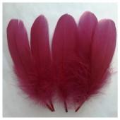 20 шт. Бордо цвет. Перья петуха 10-15 см