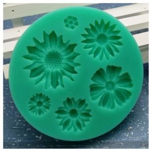 Силиконовая форма для мыла. Цветы. 8 х 8 см № 1