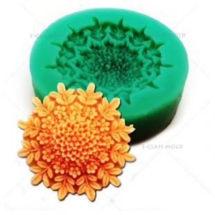 3D Силиконовая форма для мыла. Цветок. 4 х 4 см № 6