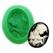 3D Силиконовая форма для мыла. Портрет. 5 х 4 см № 14