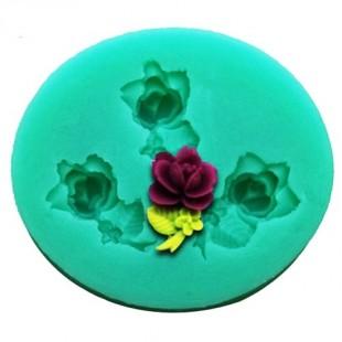 3D Силиконовая форма для мыла. Фиалки. 4 х 3 см № 5