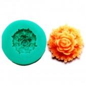 3D Силиконовая форма для мыла. Цветок. 3.5 х 3.5 см № 17