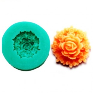 3D Силиконовая форма для мыла. Цветок. 3.5 х 3.5 см № 10