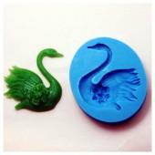 3D Силиконовая форма для мыла. Лебедь. 4.5 х 4.5 см № 19