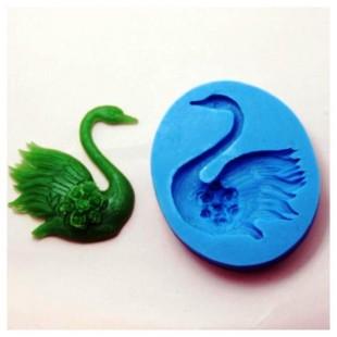 3D Силиконовая форма для мыла. Лебедь. 4.5 х 4.5 см № 11