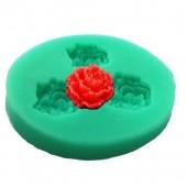 3D Силиконовая форма для мыла. Розы. 4 х 5 см № 20