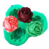 3D Силиконовая форма для мыла. Роза. 6 х 6 см № 23