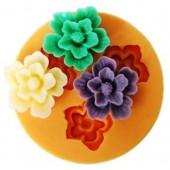 3D Силиконовая форма для мыла. Цветок. 4.5 х 4.5 см № 24
