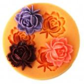 3D Силиконовая форма для мыла. Розы. 4.5 х 4.5 см № 4