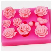 3D Силиконовая форма для мыла. Розы. 10 х 8 см № 6