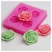 3D Силиконовая форма для мыла. Розы. 9 х 9 см № 7