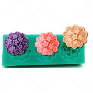 3D Силиконовая форма для мыла. Цветы. 7 х 3 см № 8