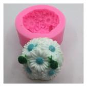 3D Силиконовая форма для мыла. Ромашки. 60 гр. № 11