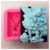 3D Силиконовая форма для мыла. Фея с ягодками. 80 гр. № 12