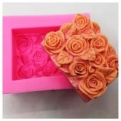 3D Силиконовая форма для мыла. Розы. 70 гр. № 14