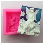 3D Силиконовая форма для мыла. Фея в лилиях. 90 гр. № 19