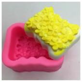 3D Силиконовая форма для мыла. Цветы поле. 70 гр. № 22