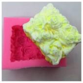 3D Силиконовая форма для мыла. Розы. 100 гр. № 8