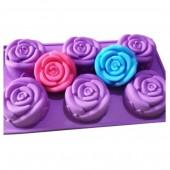 3D Силиконовая форма для мыла. Розы. 100 гр. № 47