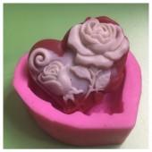 3D Силиконовая форма для мыла. Роза. 80 гр. № 33