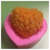 3D Силиконовая форма для мыла. Клумба розы. 80 гр. № 34