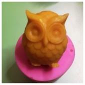 3D Силиконовая форма для мыла. Сова 80 гр. № 39