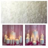 1 кг. Белый цвет. Насыпной воск для свечей. Organika