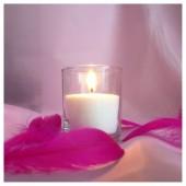 Насыпная свеча. Малая стакан свеча 8 х 7