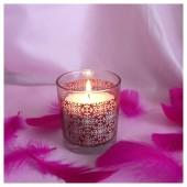 Насыпная свеча. Ажурная стакан свеча 8 х 7