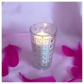 Насыпная свеча. Квадратики стакан свеча 12 х 6