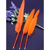 Ш-9. 1 шт. Оранжевый цвет. Гусиное перо ручка