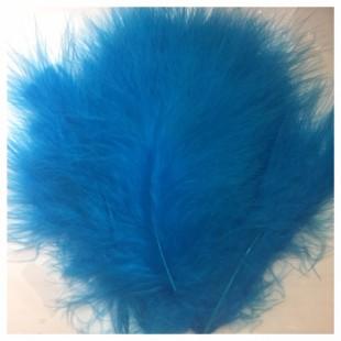 20 шт. Голубой цвет. Перья боа марабу 8-12 см.