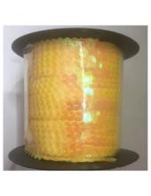 6 мм. 100 м. Желтый цвет. Пайетки нить