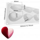 3D Силиконовая форма для мыла. Сердечки 100 гр. № 46