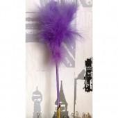 С-3. 1 шт. Фиолетовый цвет. Ручка из перьев боа