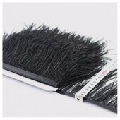 1 м. Черный цвет. Тесьма из перьев страуса 10- 15 см