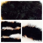 Черный цвет. Боа тесьма из пуха марабу 4-5 см