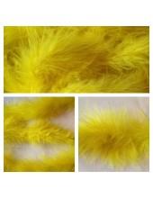 Желтый цвет. Боа тесьма из пуха марабу 4-5 см