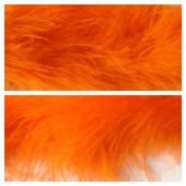 Оранжевый цвет. Боа тесьма из пуха марабу 6-8 см